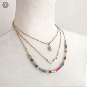 Colorful 3 strand necklace